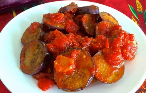 Stewed Eggplant in Tomato Sauce, Mediterranean Diet, The Cretan Diet,