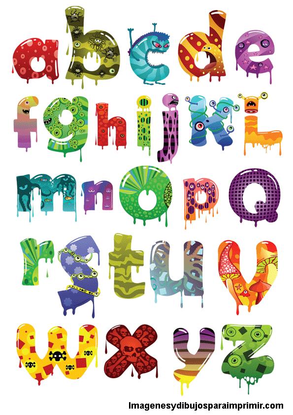 Monstrous alphabet to print