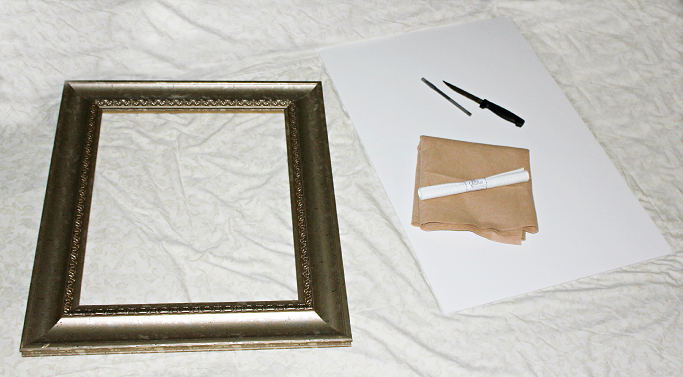 step 2 trace the cardboard with the pictureframe backing and cut it to fit the frame - Diy Cardboard Picture Frame