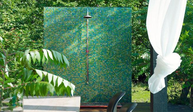 Marzua duchas de exterior para terraza y jard n for Duchas de jardin