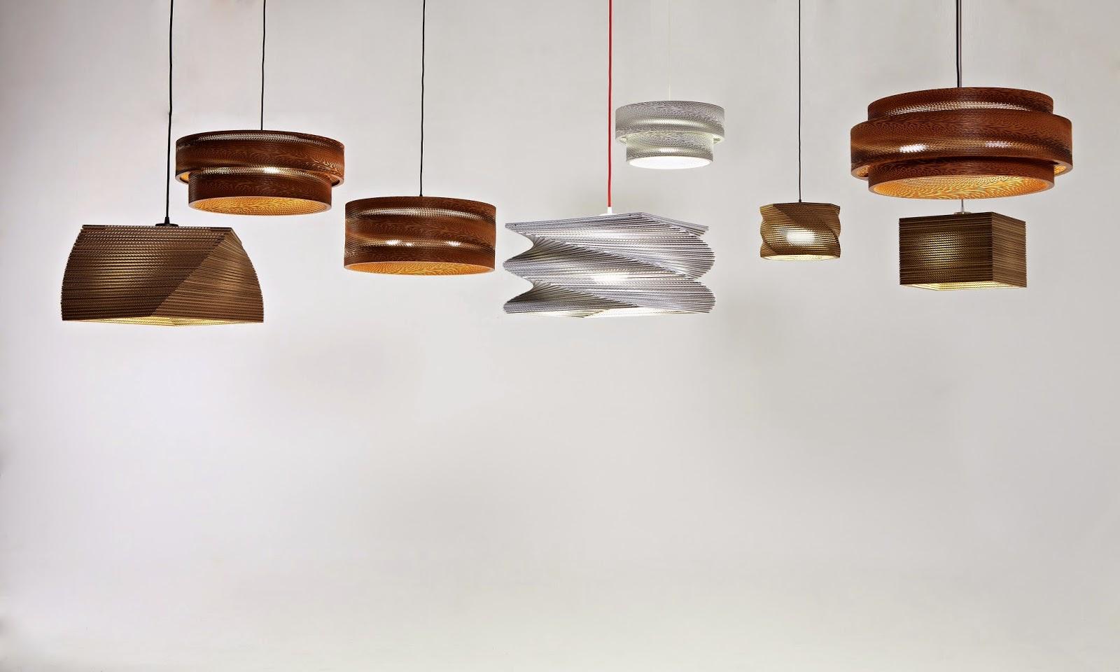 lámparas de cartón