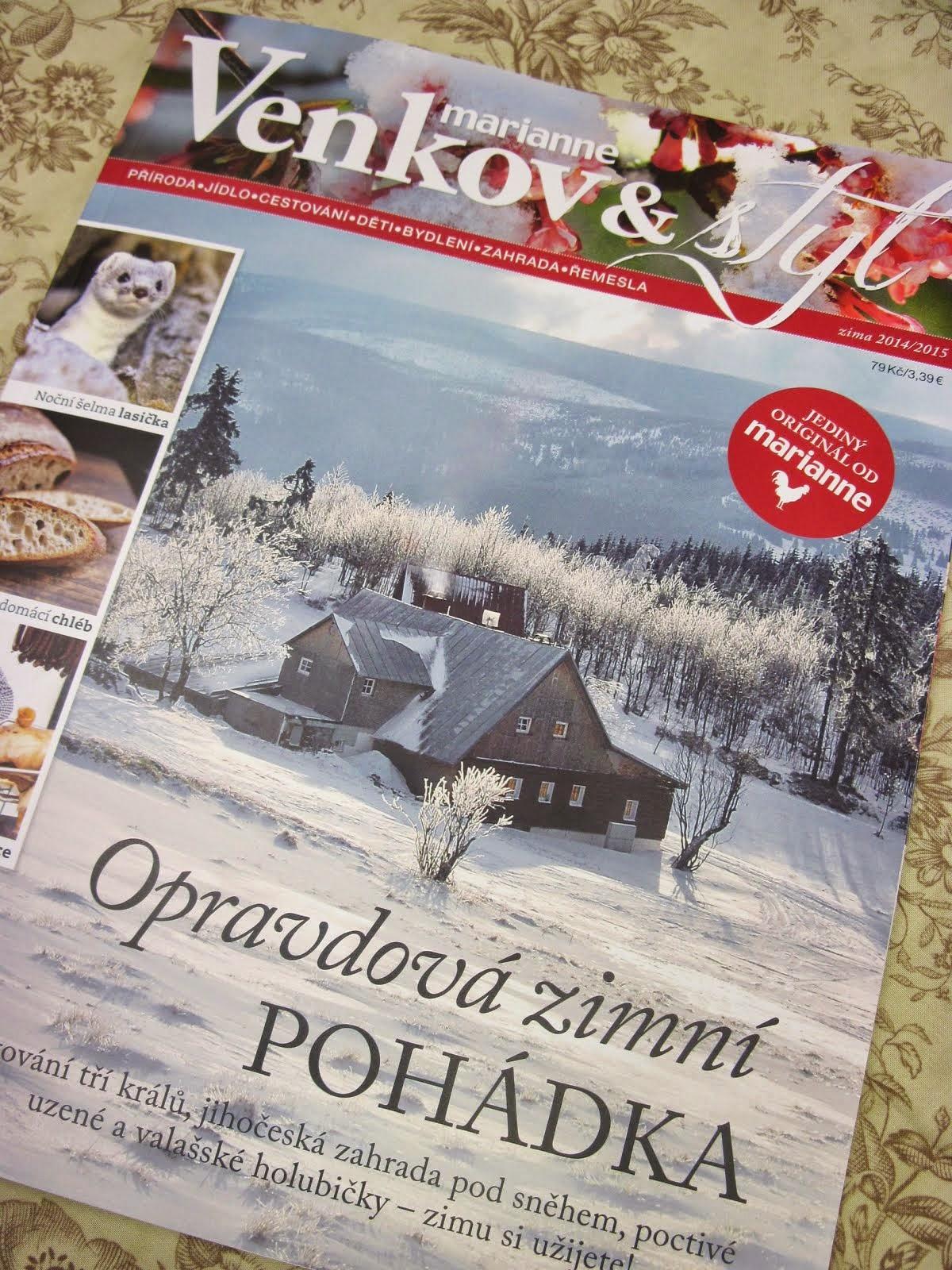 VENKOV & STYL - zima 2014 - článek Ouškem jehly - o mém tvoření (klikni na obrázek)
