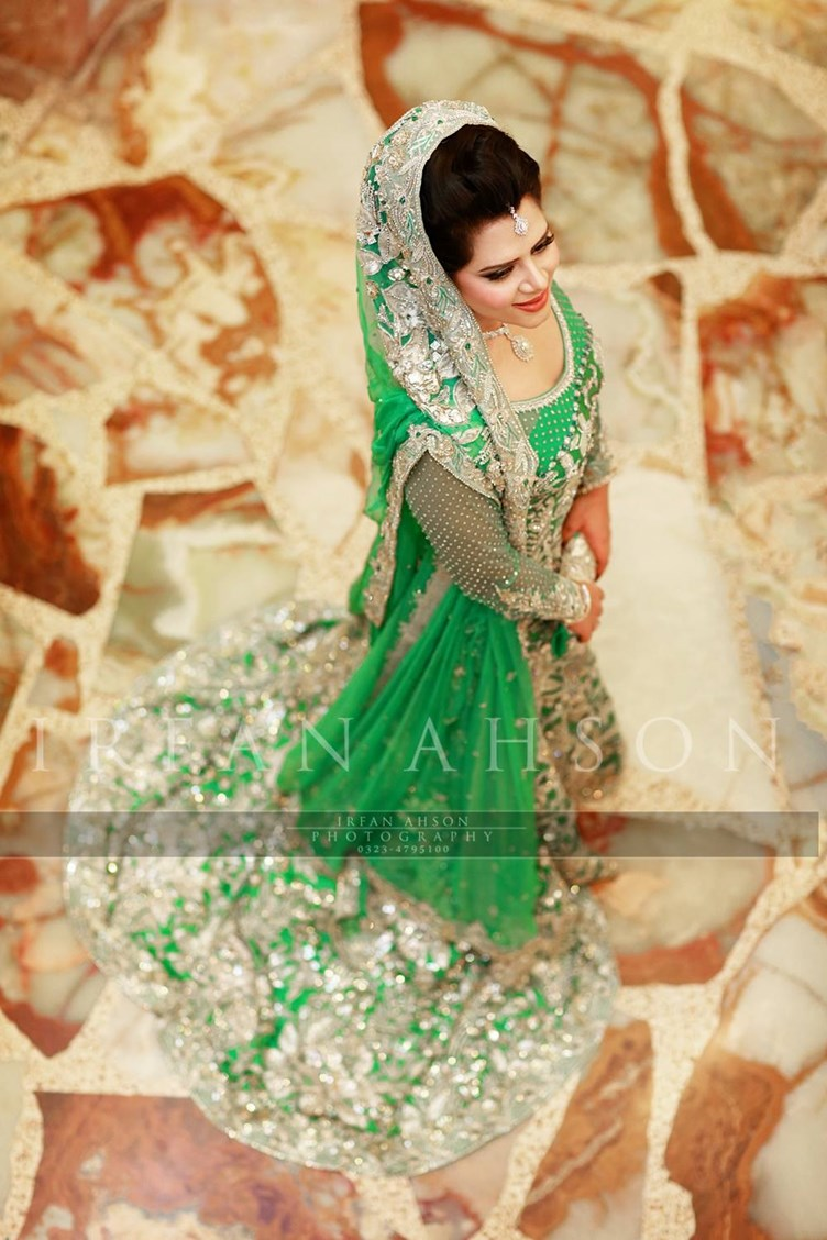 10 Most Beautiful Green Color Bridal Dresses 2016 Just