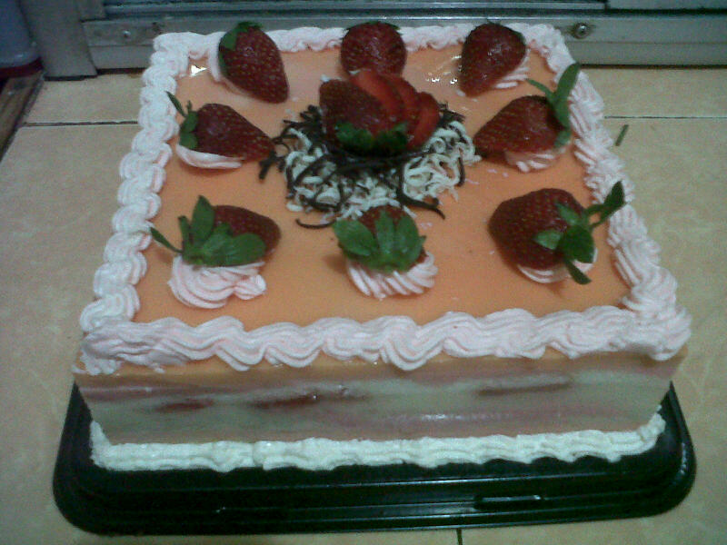 ... strawberry pudding - milk sponge pudding with real strawberries