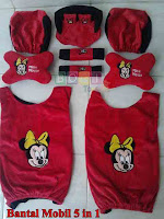 Bantal mobil set 5 in 1 minnie mouse