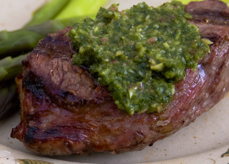 Mikelles Meals: Mexican Steak with Chimichurri Sauce