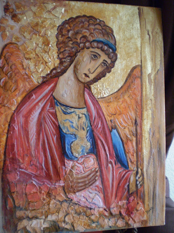 The  Archangel Michael, copy the work of Andrei Rublev