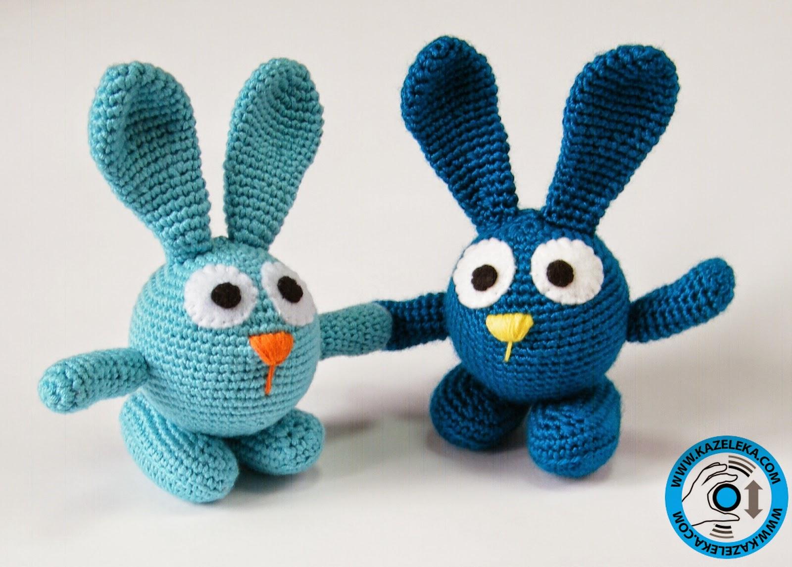 вязаные игрушки заяц