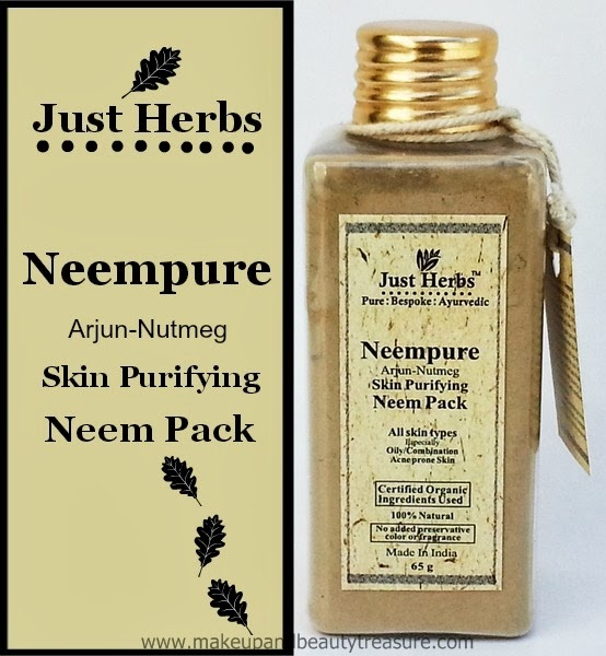 Just-herbs-Neempure-Arjun-Nutmeg-Skin-Purifying-Neem-Pack