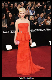 Oscars 2012 Michelle Williams in Louis Vuitton