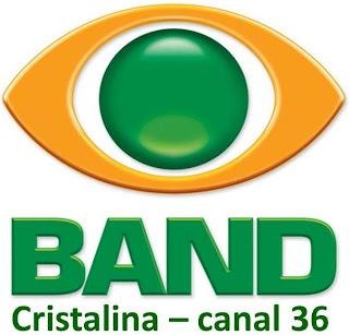 A retransmissora TV Cristalina, afiliada da Band está no ar, no canal 36
