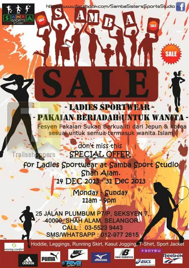 Samba Sports Studio Ladies Sportswear Sale 2013