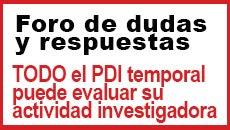 Foro: Sentencia sobre evaluación investigadora de PDI temporal