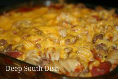 basic ground beef casserole.