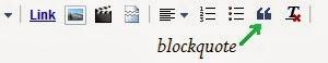 cara mudah membuat blockquote