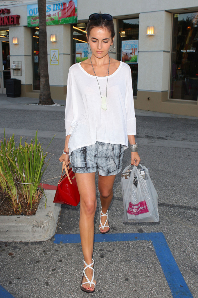 Fashion Report : Camilla Belle Shopping At World Market In Los Angeles
