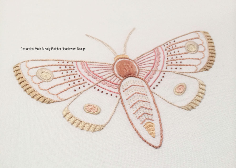 Materialistic More Anatomical Embroidery Patterns A Moth And A