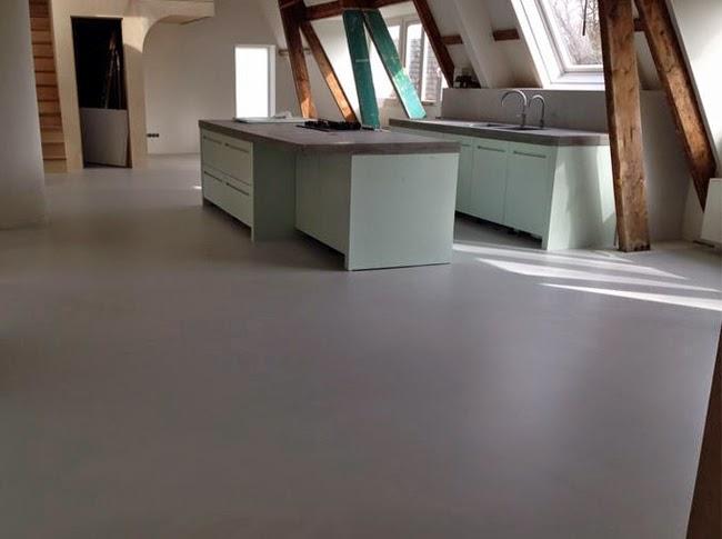 Pvc Vloeren Betonlook : Berkers vloerenbedrijf cementdekvloer gietvloer coating