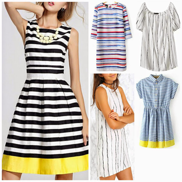 Striped budget friendly dresses