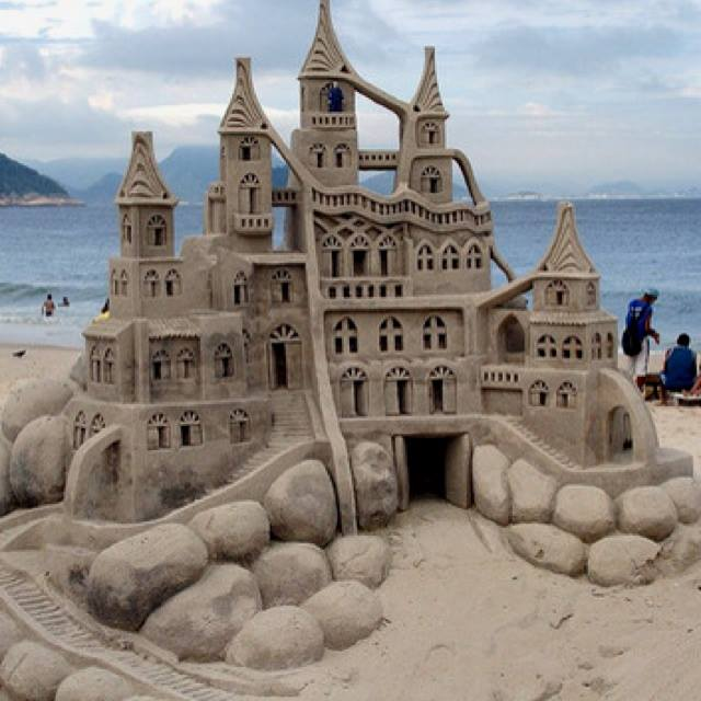 Sand art in a beautiful sculptures