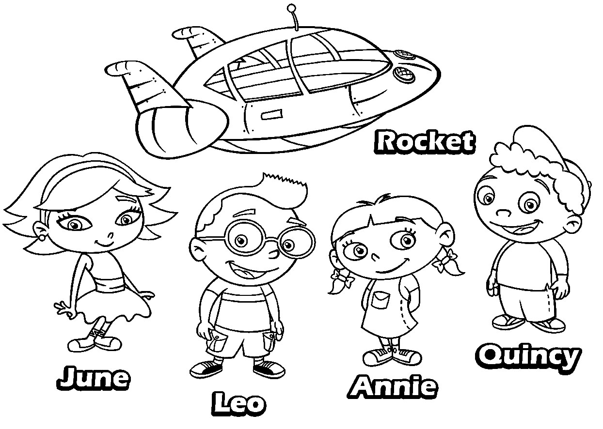 little einsteins coloring pages source coloring book