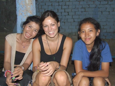 Hannah and CDO staff in Siem Reap, Cambodia