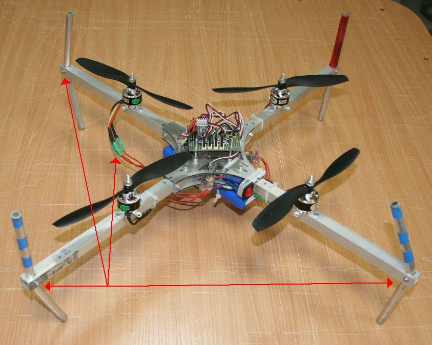 Квадрокоптер своими руками с пультом 700