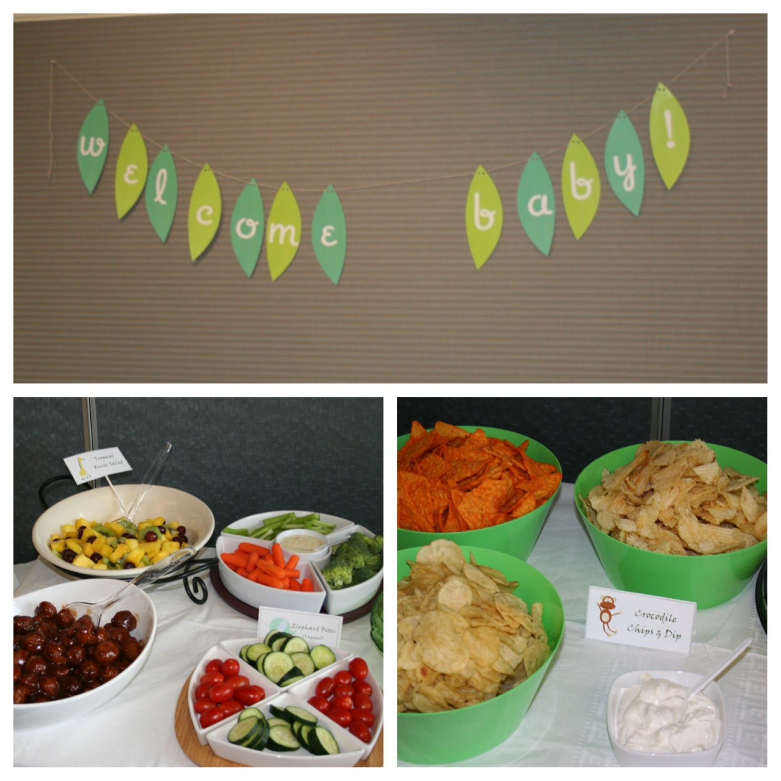 Cordier Events_jungle baby shower banner__food
