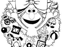 Happy Valentine Day Elmo Coloring Pages