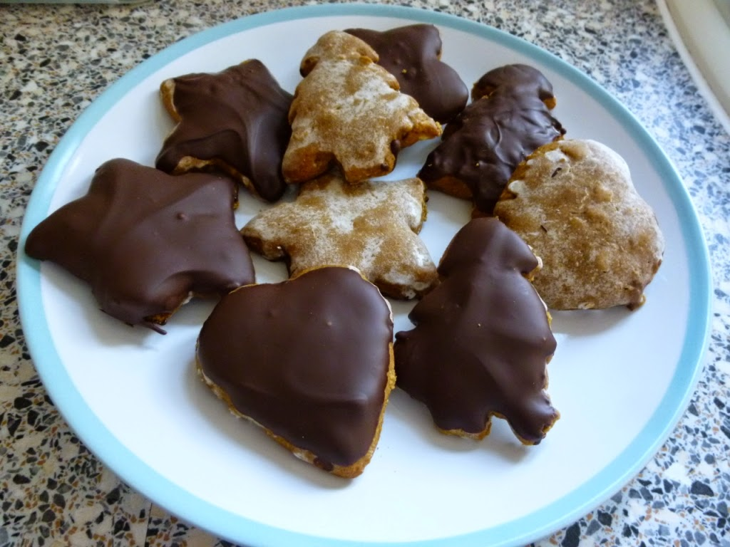 Gluten free Lebkuchen biscuits. Made to a recipe by The Happy Coeliac
