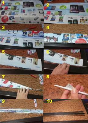 Cómo hacer las varitas de papel