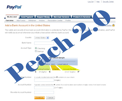 Add Bank Account Paypal