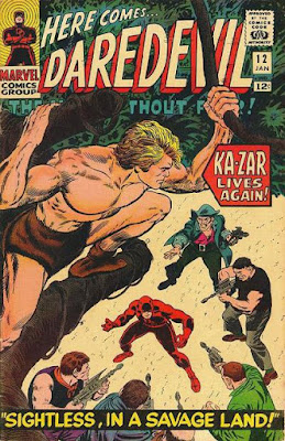 Daredevil #12, Ka-Zar crouching in a tree