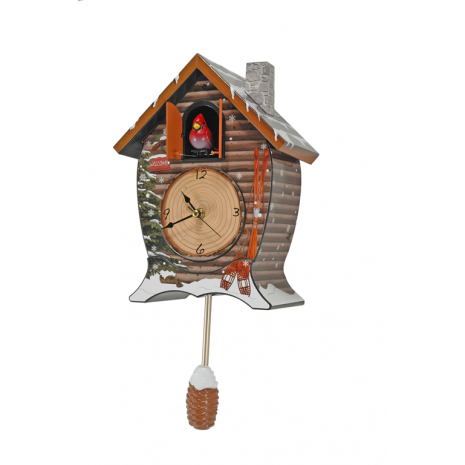 Enter to win a Snowy Cabin Cuckoo Clock. Ends 1/27