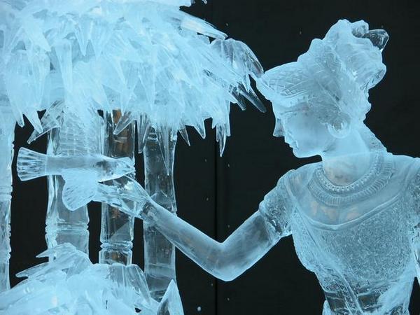 sorprendentes esculturas en hielo
