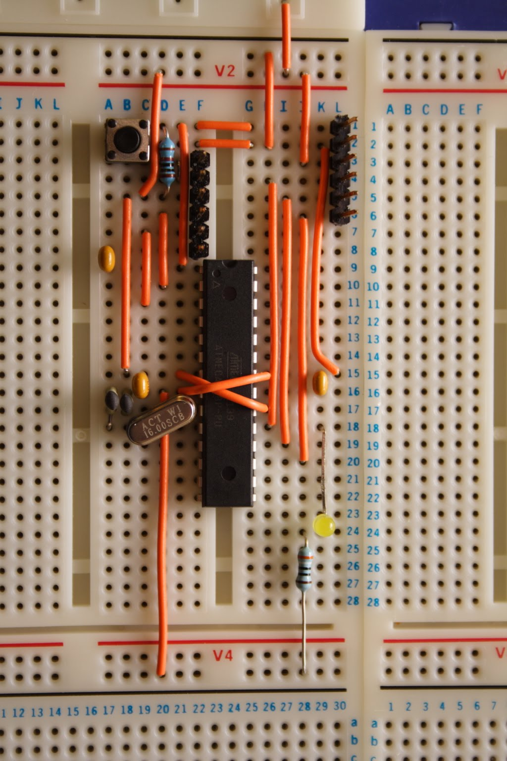 Infracortex Breadboard Arduino Breadboards Electronics Images Received A Couple Of Nice Big Bread Boards For Christmas And Decided That One Them Needed An To Use With It After Some Thought I