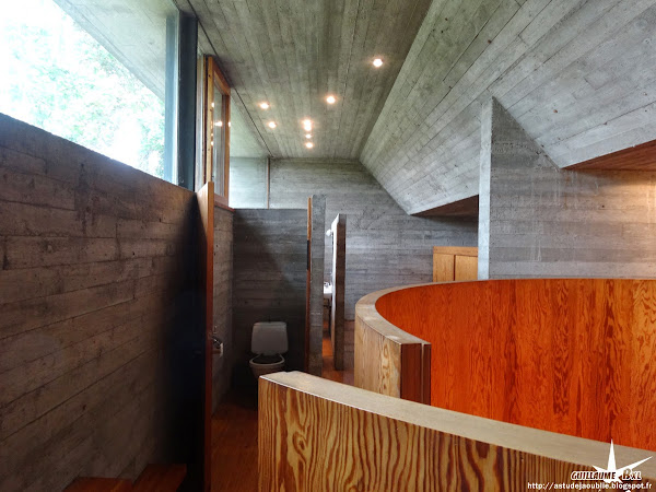 Belgique - Laethem-Saint-Martin (Sint-Martens-Latem) - Maison Van Wassenhove  Architecte: Juliaan Lampens  Construction: 1973