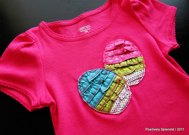 easter clothing for kids: ruffled easter egg tee tutorial