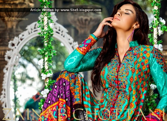 Zainab Chottani Winter Dress Collection 2014-2015
