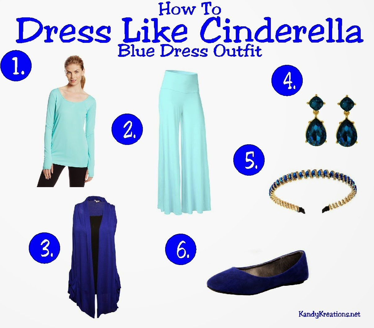 How to dress like Cinderella in her Blue Dress by KandyKreations