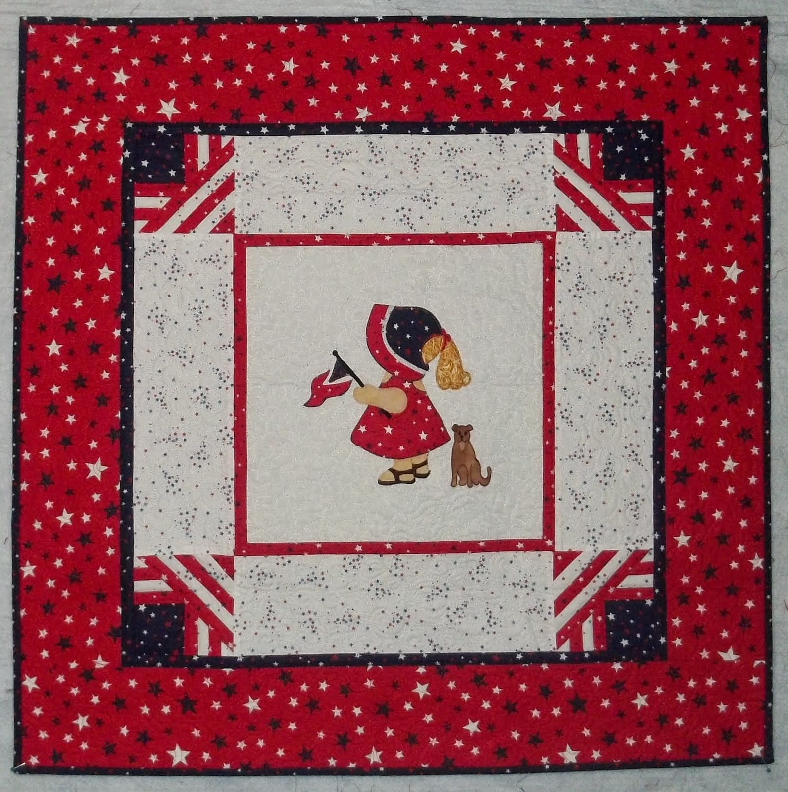Patriotic Sunbonnet Sue Wall Hanging Pattern