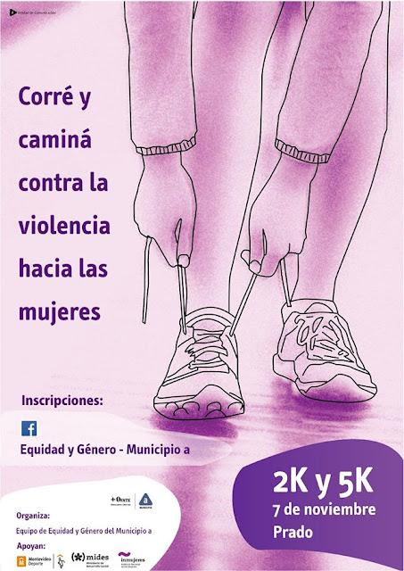 5k y 2k Correcaminata contra la violencia hacia las mujeres (Prado de Montevideo, 07/nov/2015)