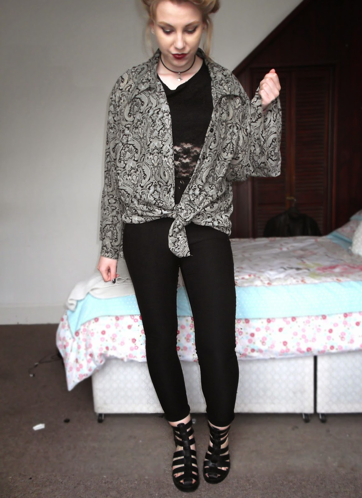fashion, grunge, style, kimono, alternative