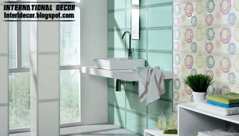 Turquoise Tiles, Contemporary Turquoise Bathroom Tiles Design   Turquoise  Bathroom