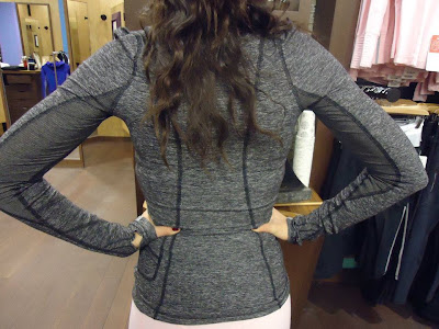 lululemon black back on track baselayer running top
