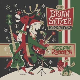 """THE BRIAN SETZER ORCHESTRA: """"Rockin' Rudolph"""" (2015)"""