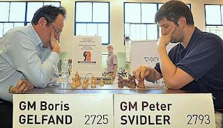 Gideon Japhet: Svidler 5-3 Gelfand © Chessbase