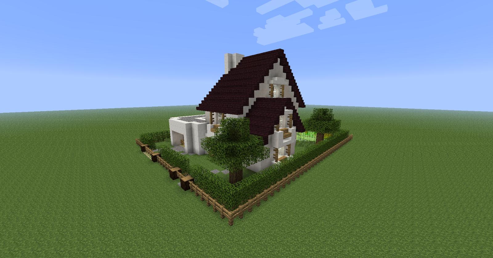 Fr minecraft maison blanche de campagne - Jardin maison minecraft nimes ...