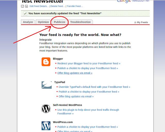 tuto créer une newsletter automatique pour son blog (blogger)