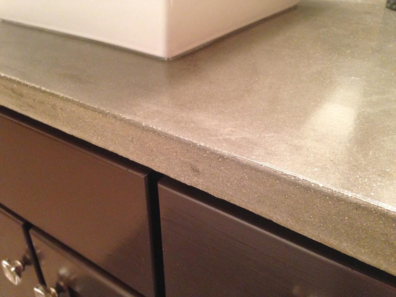 Concrete Vanity Tops : Ferry diy concrete vanity top